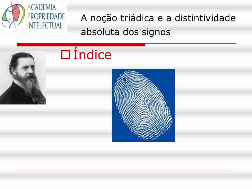 A noção triádica e a distintividade absoluta dos signos Índice