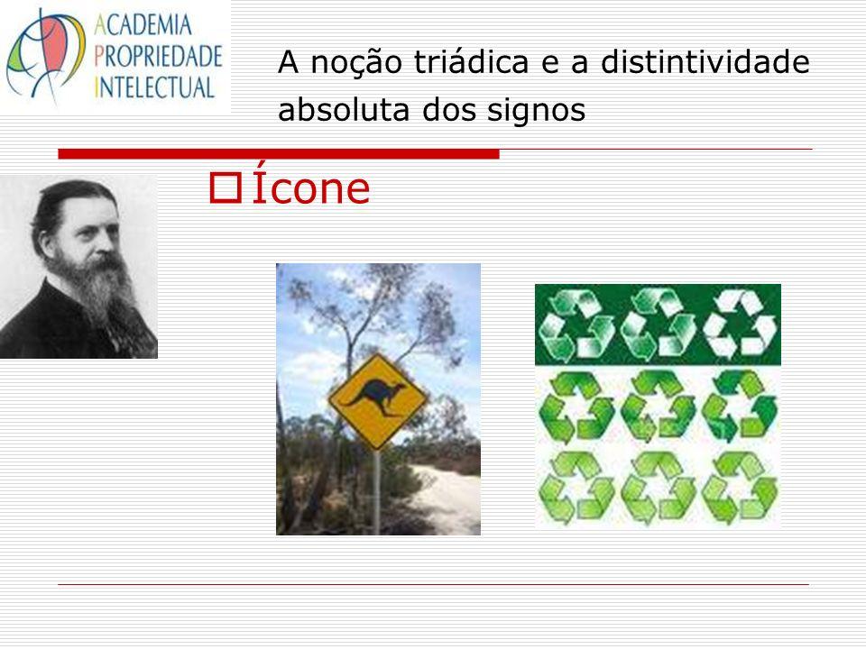 A noção triádica e a distintividade absoluta dos signos Ícone