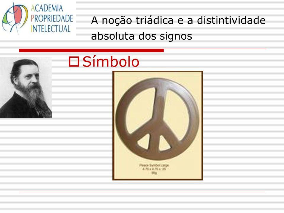 A noção triádica e a distintividade absoluta dos signos Símbolo