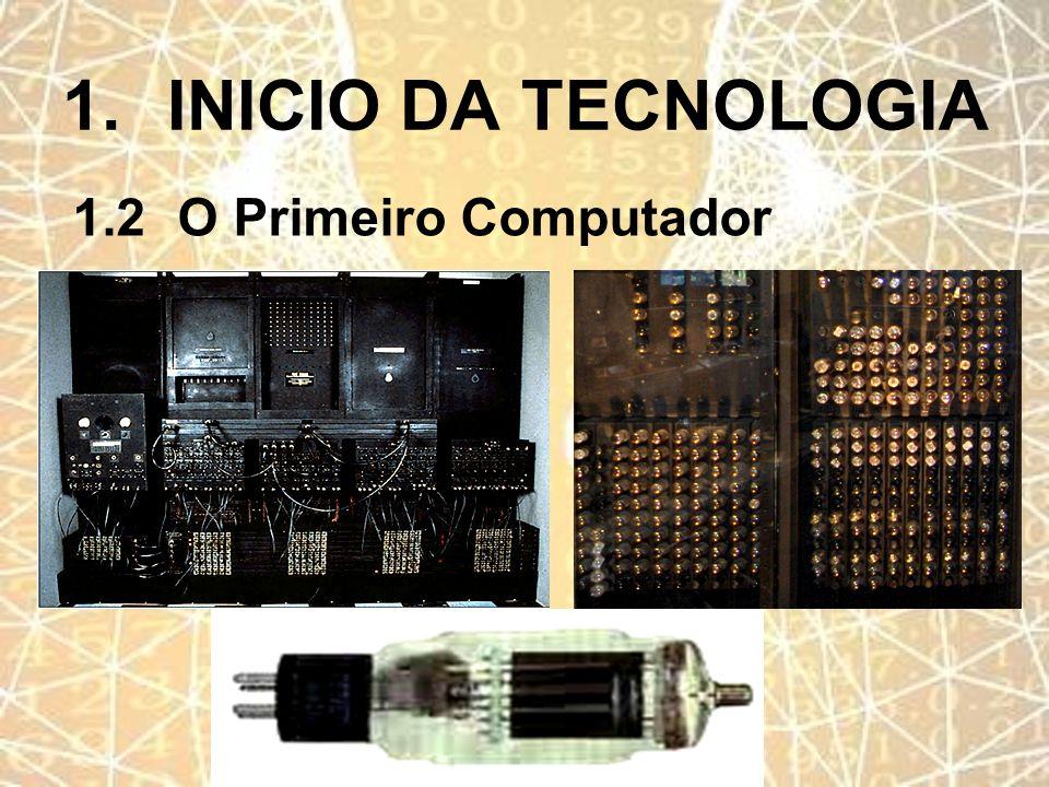 1.INICIO DA TECNOLOGIA 1.2O Primeiro Computador