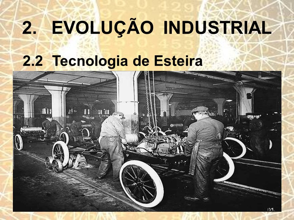2.EVOLUÇÃO INDUSTRIAL 2.2Tecnologia de Esteira
