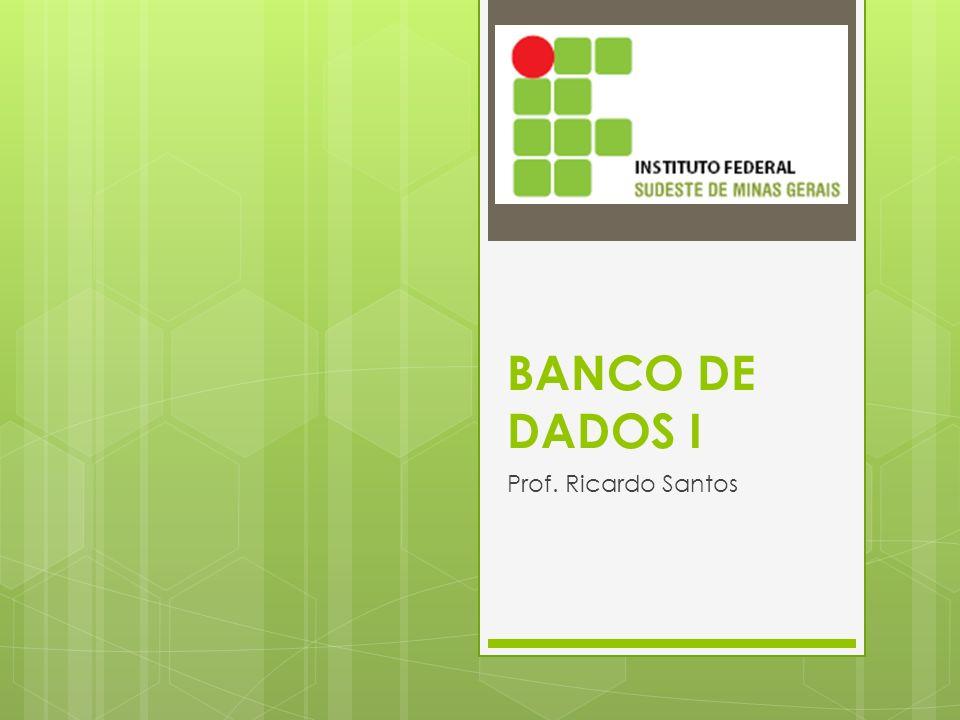 BANCO DE DADOS I Prof. Ricardo Santos