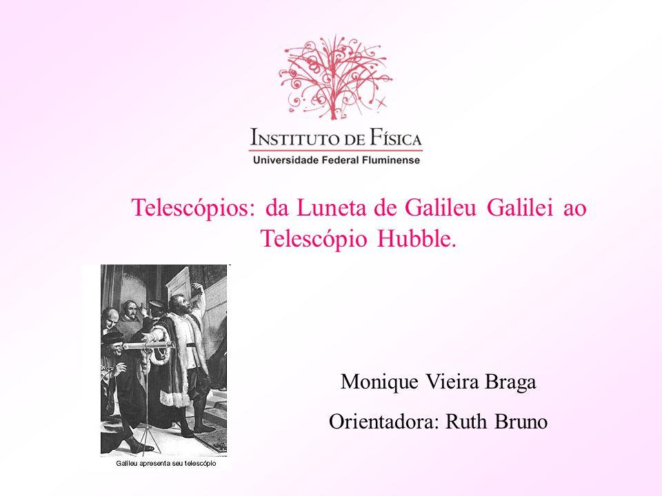 Telescópios: da Luneta de Galileu Galilei ao Telescópio Hubble. Monique Vieira Braga Orientadora: Ruth Bruno