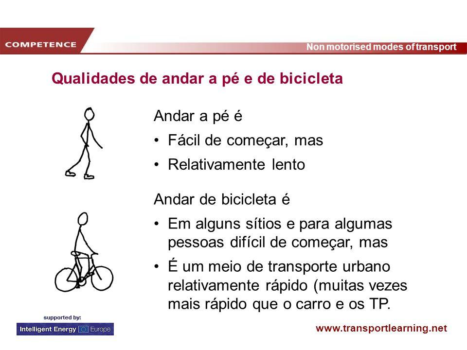www.transportlearning.net Non motorised modes of transport 90-100 000 pessoas participaram (3.6 % dos trabalhadores dinamarqueses) 57% já andavam de bicicleta todos os dias antes da campanha 14% andam de bicicleta mais vezes entre casa e o trabalho 18% andam mais de bicicleta para outros sítios Resultados da campanha