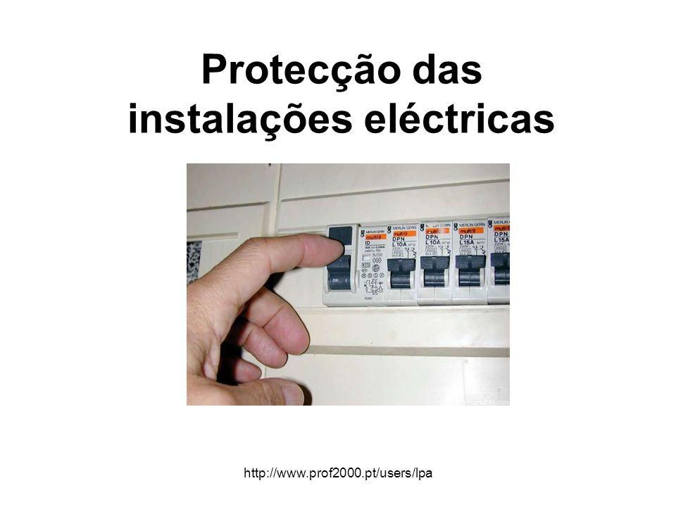 http://www.prof2000.pt/users/lpa Protecção das instalações eléctricas