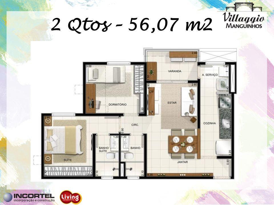 2 Qtos – 56,07 m2