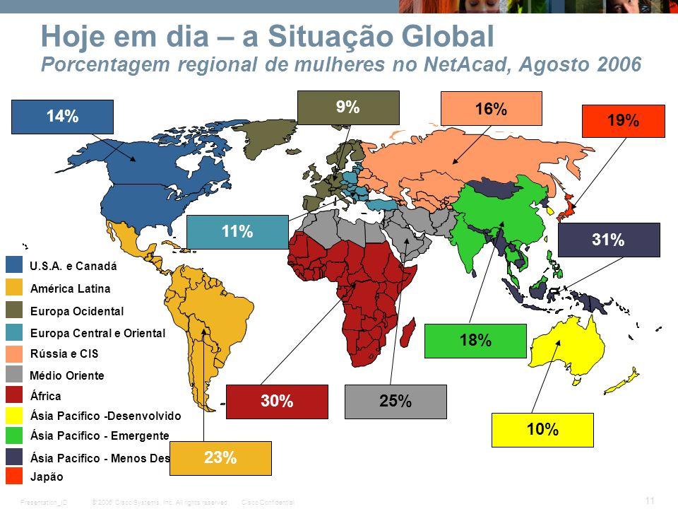 © 2006 Cisco Systems, Inc. All rights reserved.Cisco ConfidentialPresentation_ID 11 U.S.A. e Canadá América Latina Europa Ocidental Europa Central e O