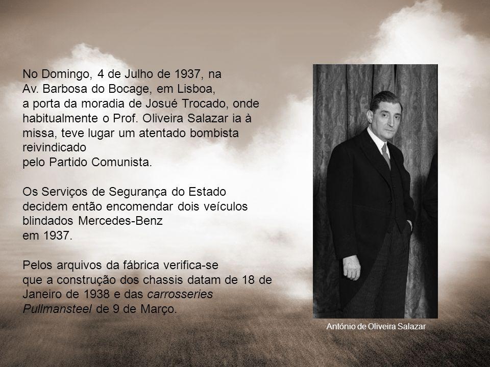 No Domingo, 4 de Julho de 1937, na Av. Barbosa do Bocage, em Lisboa, a porta da moradia de Josué Trocado, onde habitualmente o Prof. Oliveira Salazar