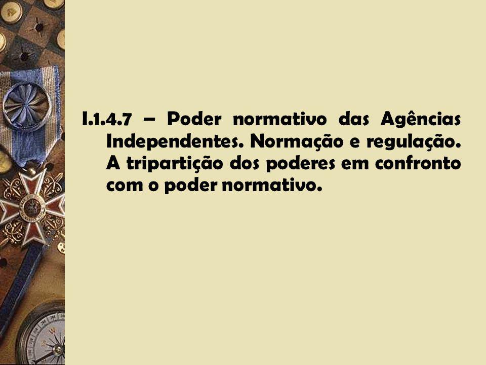 I.1.4.6 – Atividade judicialiforme das Agências Independentes. A soberania na apreciação da matéria de prova e a supressão da 1ª Instância. O paradigm