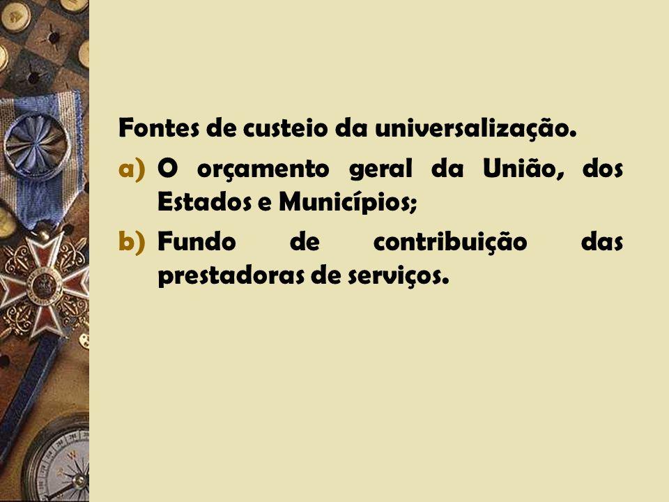O caráter universal dos serviços públicos. O princípio da continuidade. A interrupção.
