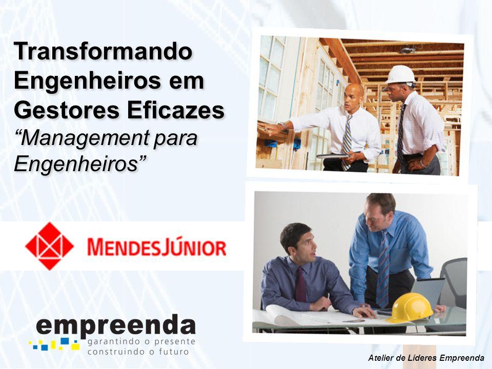 www.empreenda.net Este programa tem como objetivo principal o desenvolvimento e a transformação de engenheiros competentes do ponto de vista técnico (experts) em Gestores Eficazes preparando-os assim para a posição crescente de liderança no futuro próximo.