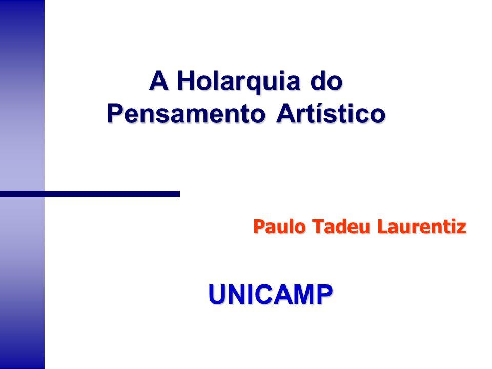 A Holarquia do Pensamento Artístico UNICAMP Paulo Tadeu Laurentiz