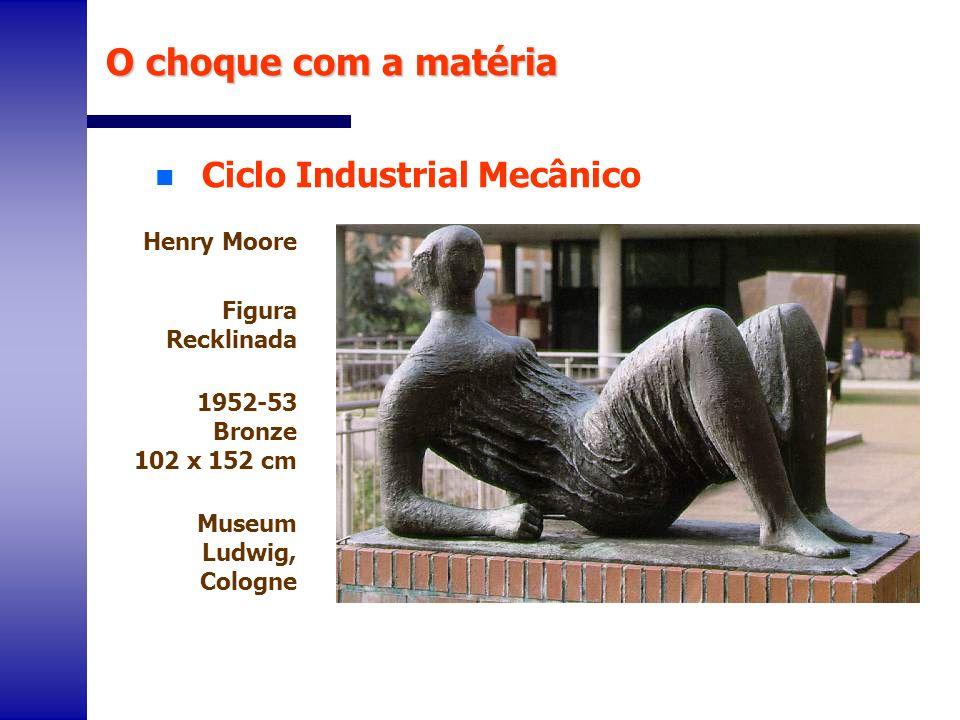 n Ciclo Industrial Mecânico O choque com a matéria Henry Moore Figura Recklinada 1952-53 Bronze 102 x 152 cm Museum Ludwig, Cologne