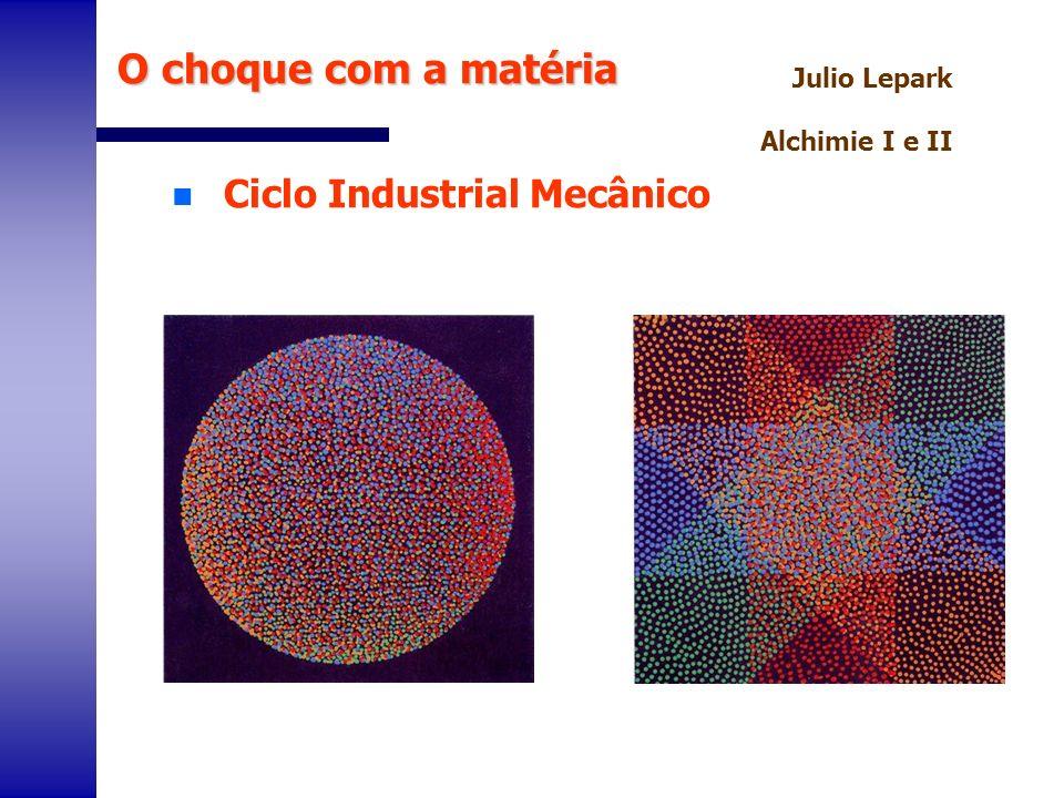 n Ciclo Industrial Mecânico O choque com a matéria Julio Lepark Alchimie I e II