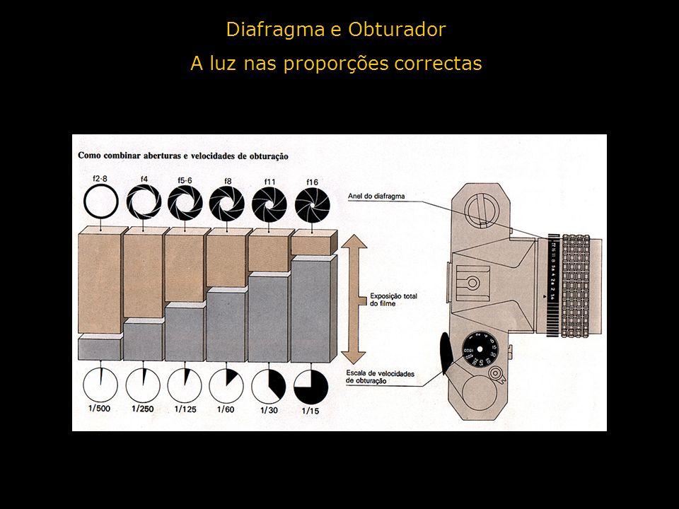 Diafragma e Obturador A luz nas proporções correctas