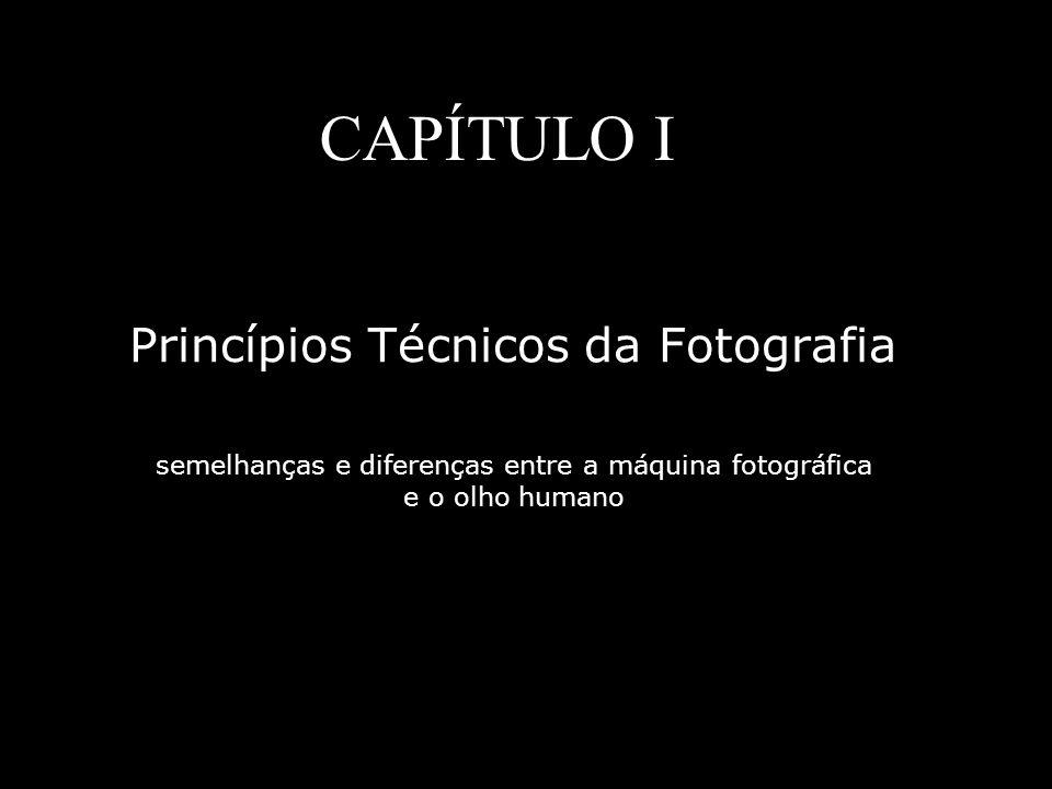 CAPÍTULO I Princípios Técnicos da Fotografia semelhanças e diferenças entre a máquina fotográfica e o olho humano