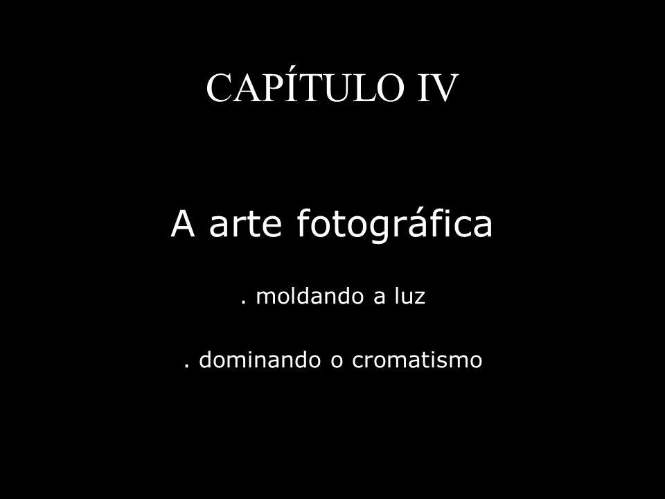 CAPÍTULO IV A arte fotográfica. moldando a luz. dominando o cromatismo