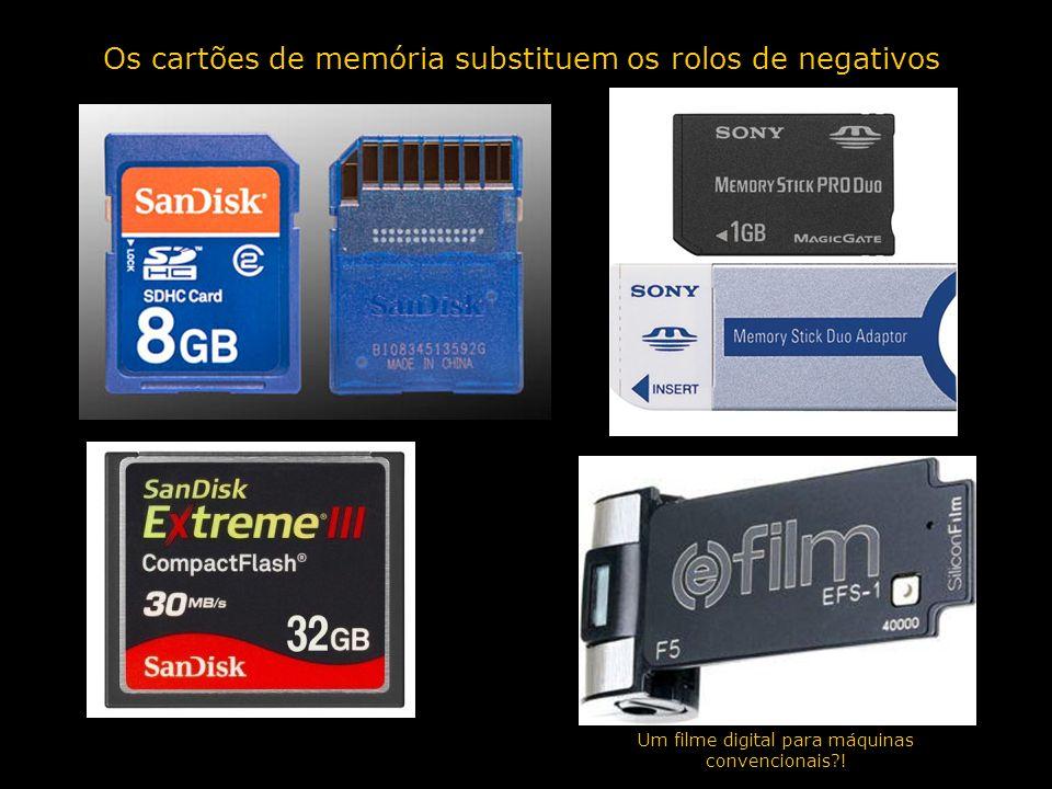 Os cartões de memória substituem os rolos de negativos Um filme digital para máquinas convencionais?!