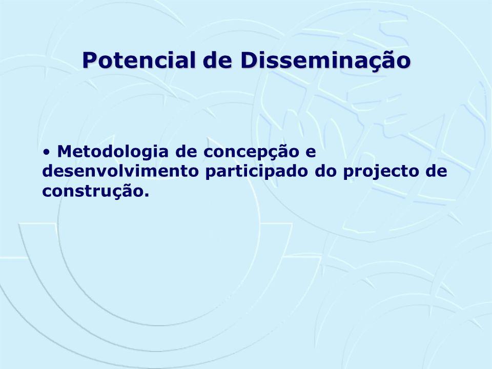 Metodologia de concepção e desenvolvimento participado do projecto de construção. Potencial de Disseminação