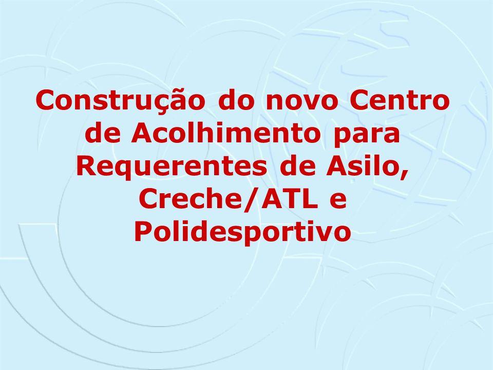 Construção do novo Centro de Acolhimento para Requerentes de Asilo, Creche/ATL e Polidesportivo