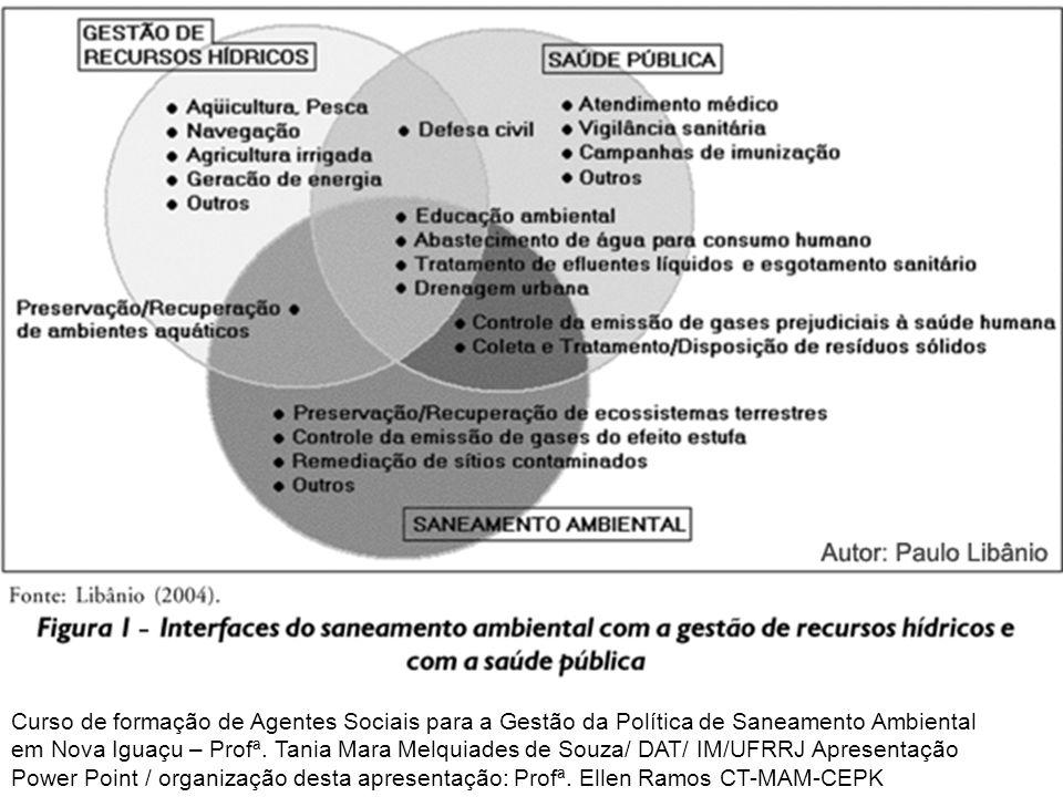 POLÍTICAS DE SANEAMENTO AMBIENTAL Evolução política do setor de saneamento no Brasil: 1970-1986 Plano Nacional de Saneamento (Planasa) ampliou o número de domicílios com água da rede pública e com instalação sanitária.