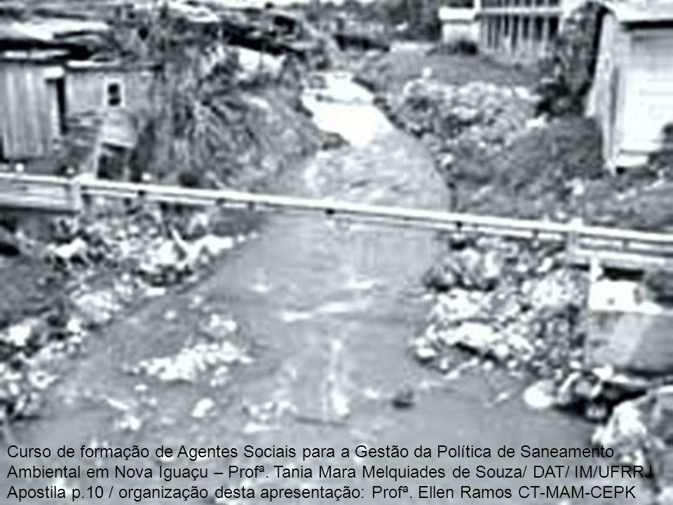 Curso de formação de Agentes Sociais para a Gestão da Política de Saneamento Ambiental em Nova Iguaçu – Profª. Tania Mara Melquiades de Souza/ DAT/ IM