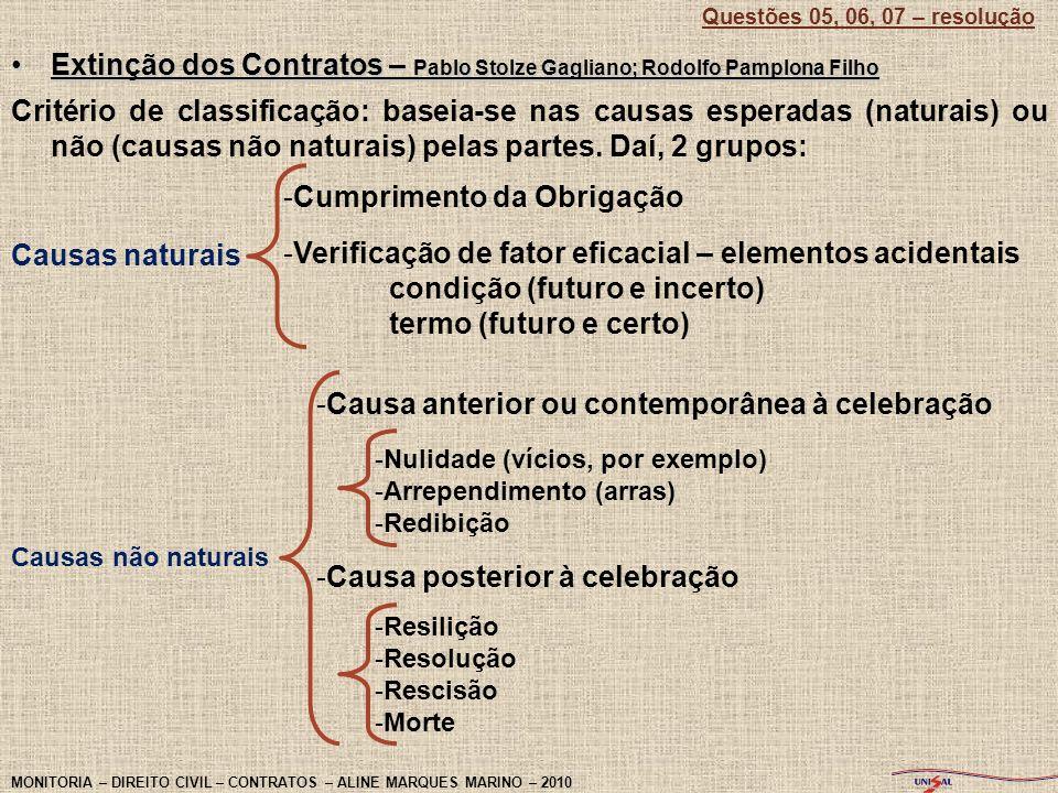 Extinção dos Contratos – Pablo Stolze Gagliano; Rodolfo Pamplona FilhoExtinção dos Contratos – Pablo Stolze Gagliano; Rodolfo Pamplona Filho Critério