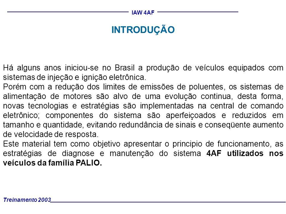 IAW 4AF INTRODUÇÃO Há alguns anos iniciou-se no Brasil a produção de veículos equipados com sistemas de injeção e ignição eletrônica. Porém com a redu
