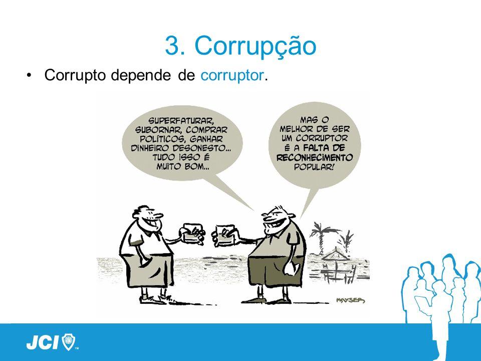 3. Corrupção Corrupto depende de corruptor.