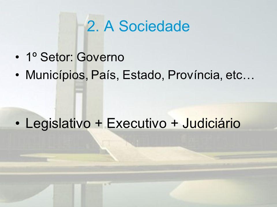 2.A Sociedade Poder legislativo: é o poder de legislar, criar leis.
