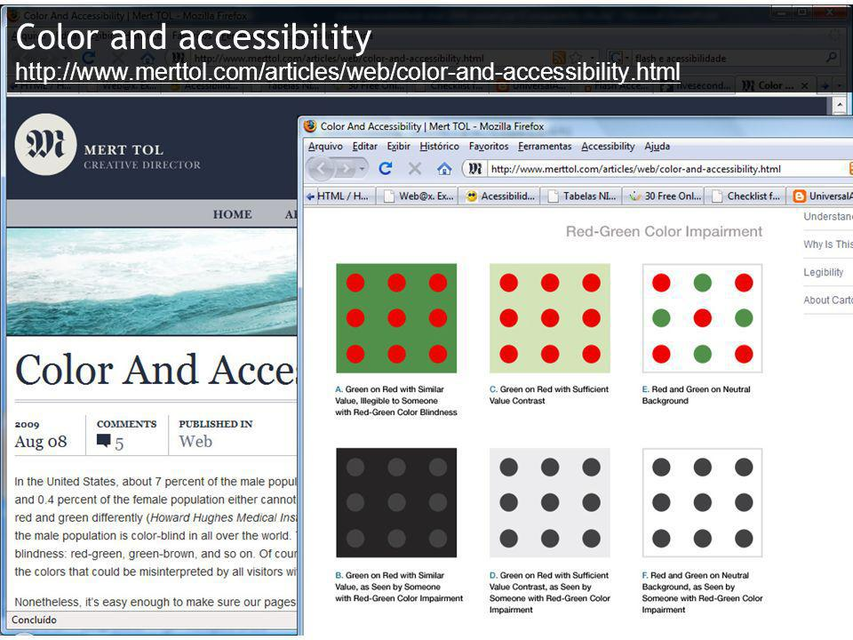 Color and accessibility http://www.merttol.com/articles/web/color-and-accessibility.html