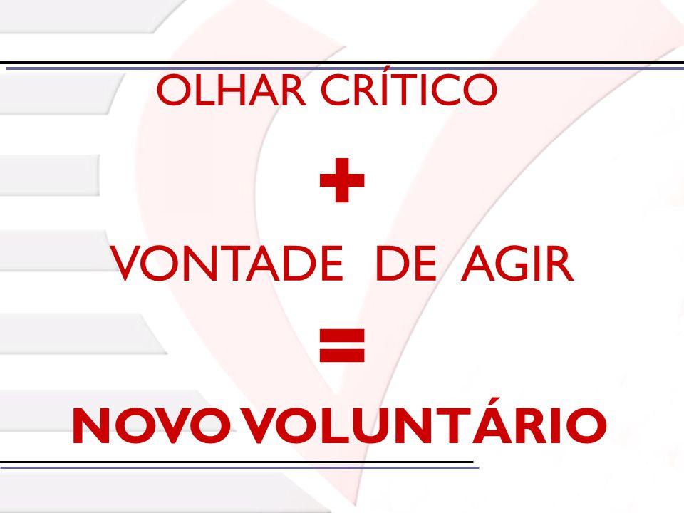 OLHAR CRÍTICO = VONTADE DE AGIR NOVO VOLUNTÁRIO +