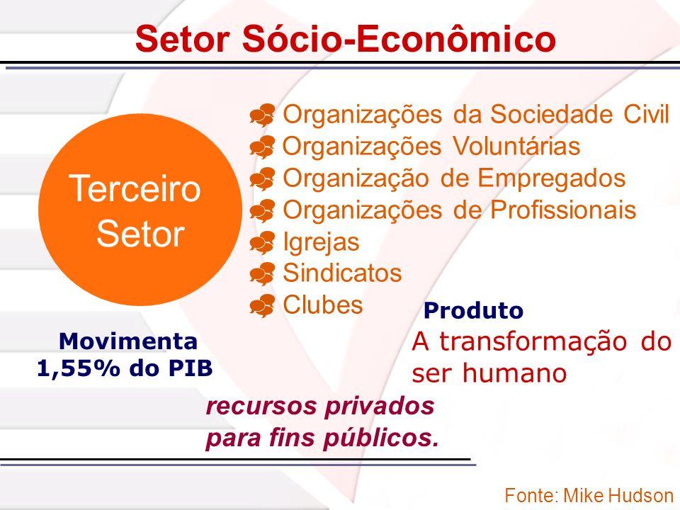 Terceiro Setor Organizações da Sociedade Civil Organizações Voluntárias Organização de Empregados Organizações de Profissionais Igrejas Sindicatos Clu