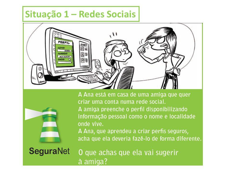 Situação 1 – Redes Sociais
