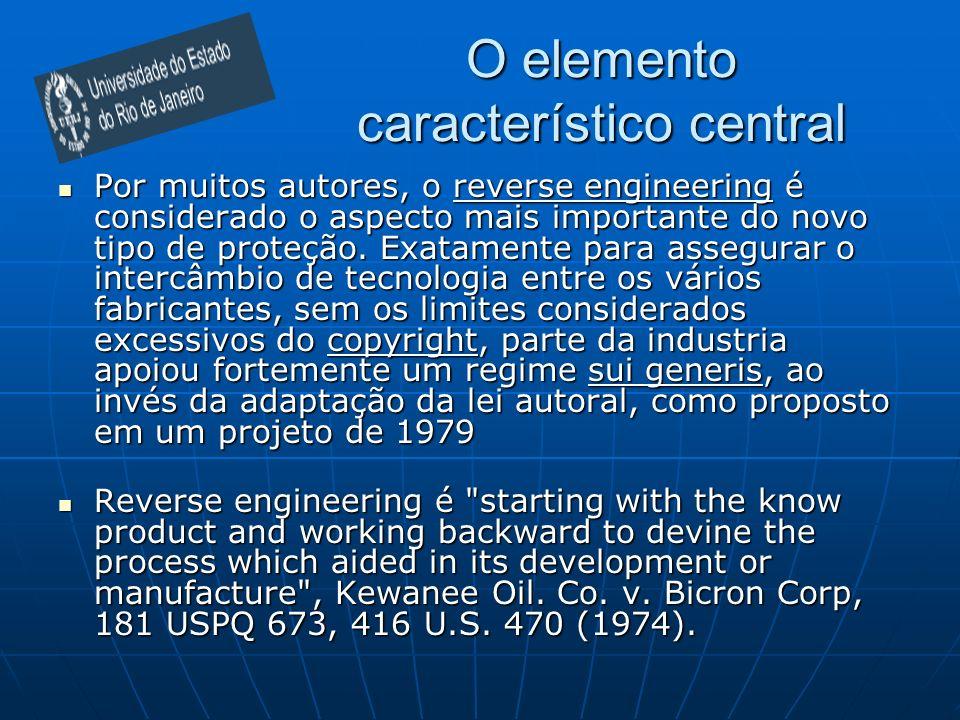 O elemento característico central Por muitos autores, o reverse engineering é considerado o aspecto mais importante do novo tipo de proteção. Exatamen