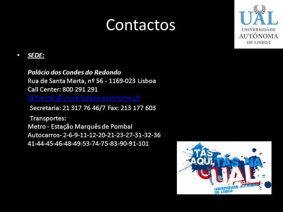 Condições de Acesso Provas de ingresso: Português ou Inglês ou Francês Média de entrada: 9,5 valores Vagas: (sem informações) Propinas: 300 euros / mê