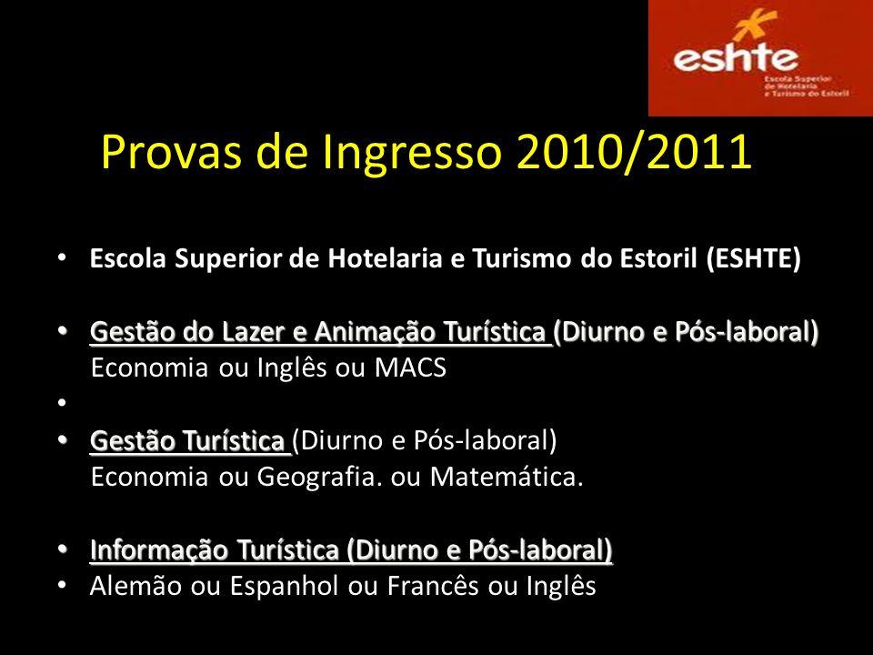 Cursos Licenciaturas na Escola Superior de Hotelaria e Turismo do Estoril Virada para a formação de quadros superiores do turismo, da hotelaria e da r