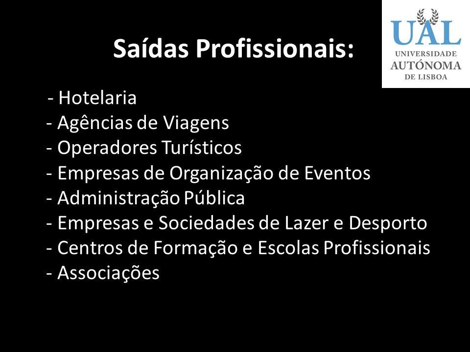 Áreas abrangidas pela licenciatura em Gestão de Actividades Turísticas -Gestão Hoteleira -Gestão da Restauração -Gestão das Agências de Viagem e de Tu