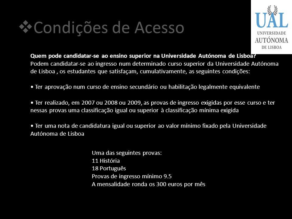 A Faculdade A licenciatura em Direito da Universidade Autónoma de Lisboa tem como principal objectivo proporcionar aos alunos uma formação jurídica só