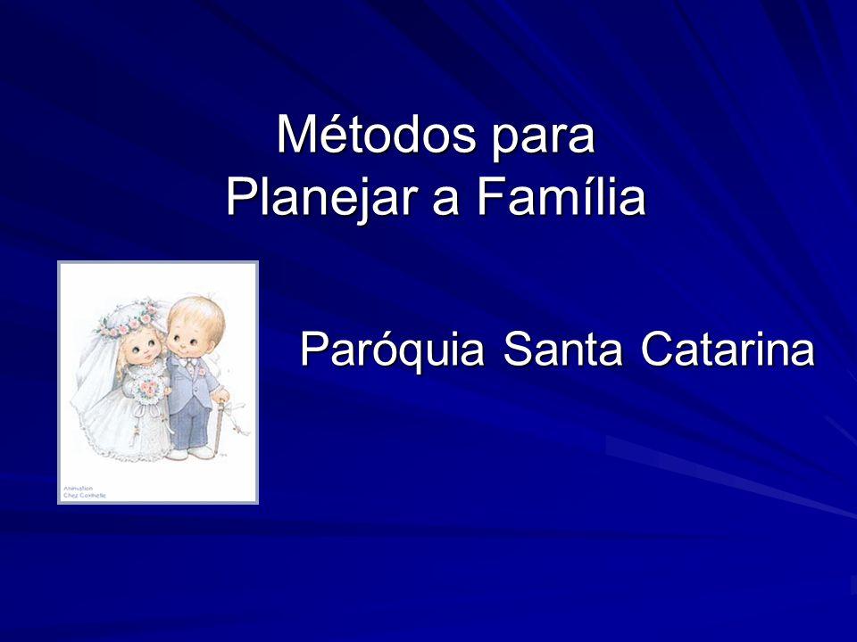 Métodos para Planejar a Família Paróquia Santa Catarina