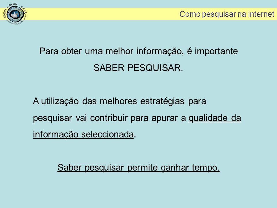 Pesquisa de sites portugueses (site:pt) Como pesquisar na internet Se o motor de busca não limita o campo de pesquisa, colocar a seguir à palavra-chave, a expressão site:pt