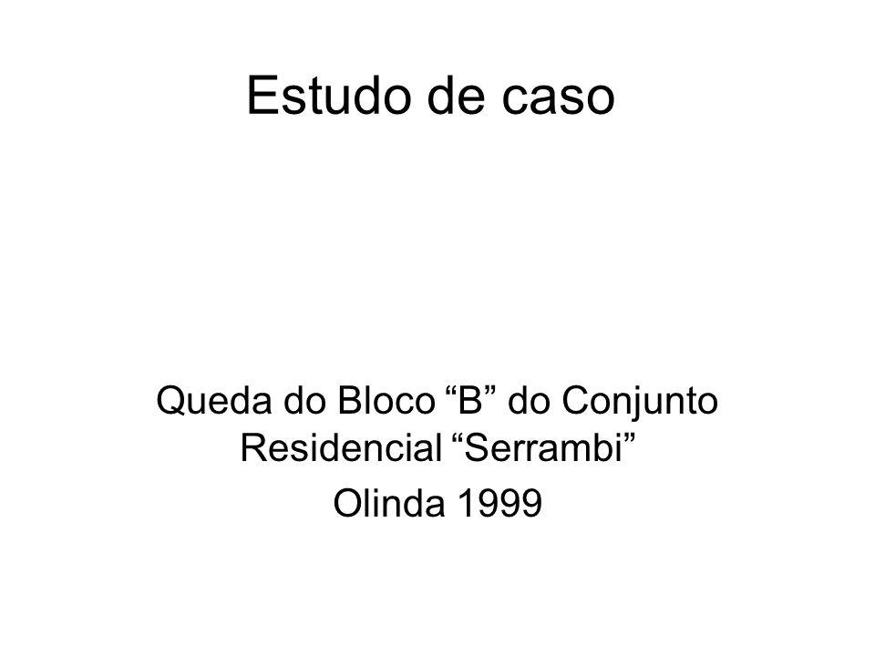 Estudo de caso Queda do Bloco B do Conjunto Residencial Serrambi Olinda 1999