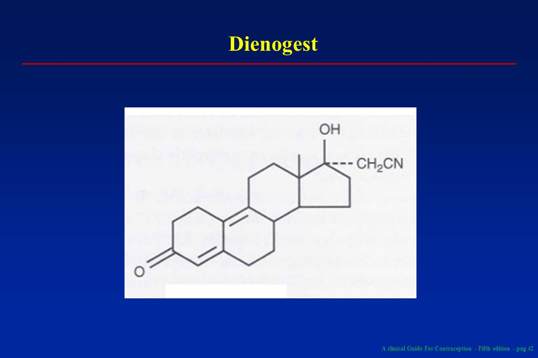 Dienogest A clinical Guide For Contraception - Fifth edition - pag 42