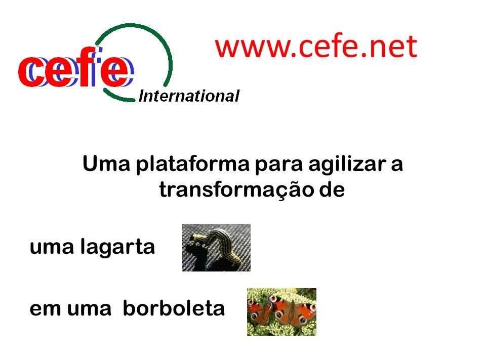 www.cefe.net Uma plataforma para agilizar a transformação de uma lagarta em uma borboleta