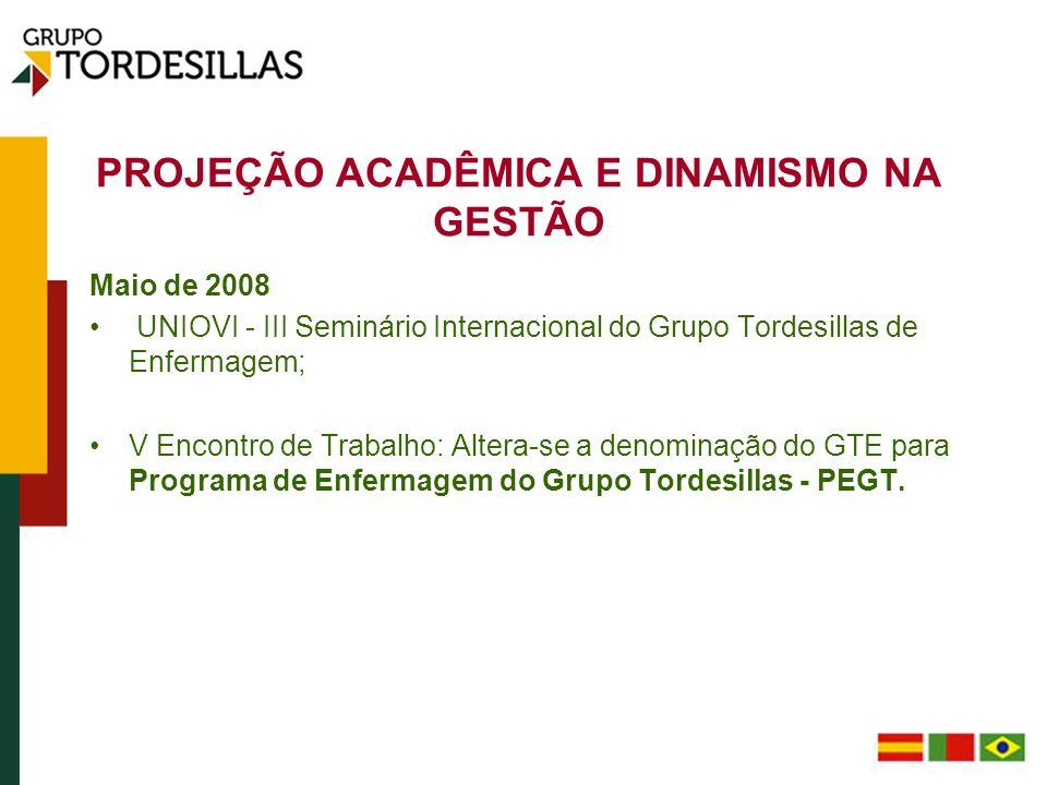 COMPOSIÇÃO ATUAL DO PROGRAMA DE ENFERMAGEM DO GRUPO TORDESILLAS DIRETORA Uva Dra.