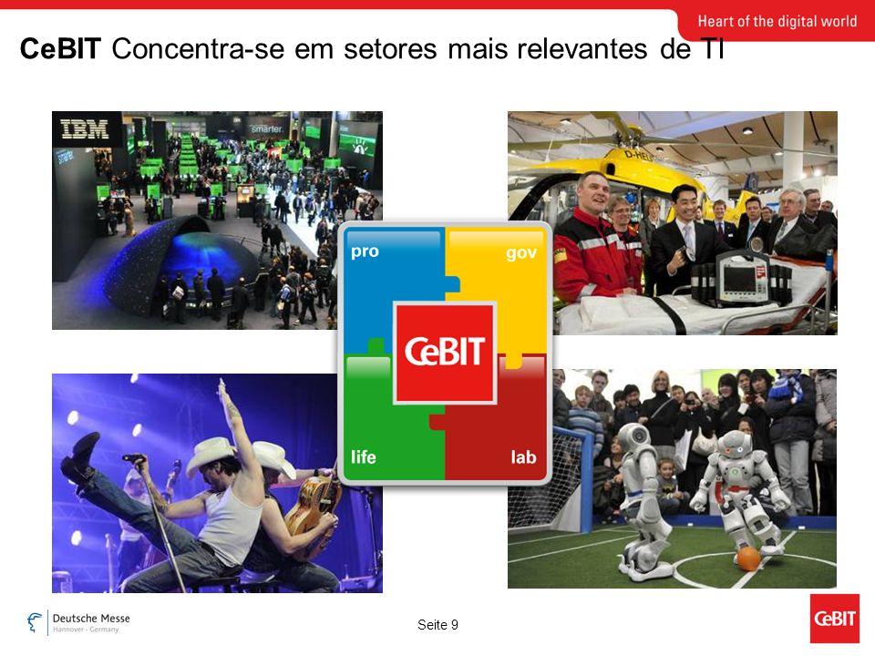 Seite 9 CeBIT Concentra-se em setores mais relevantes de TI