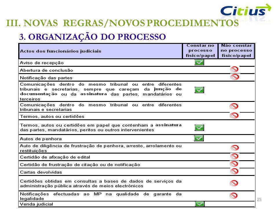 3. ORGANIZAÇÃO DO PROCESSO 25