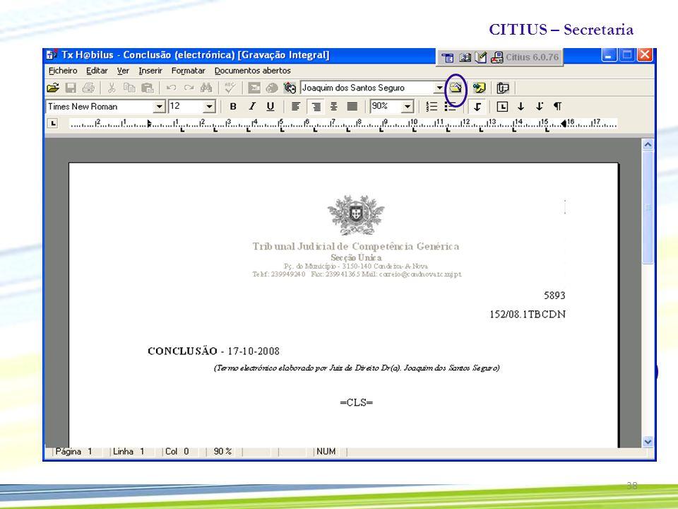 CITIUS – Secretaria 38