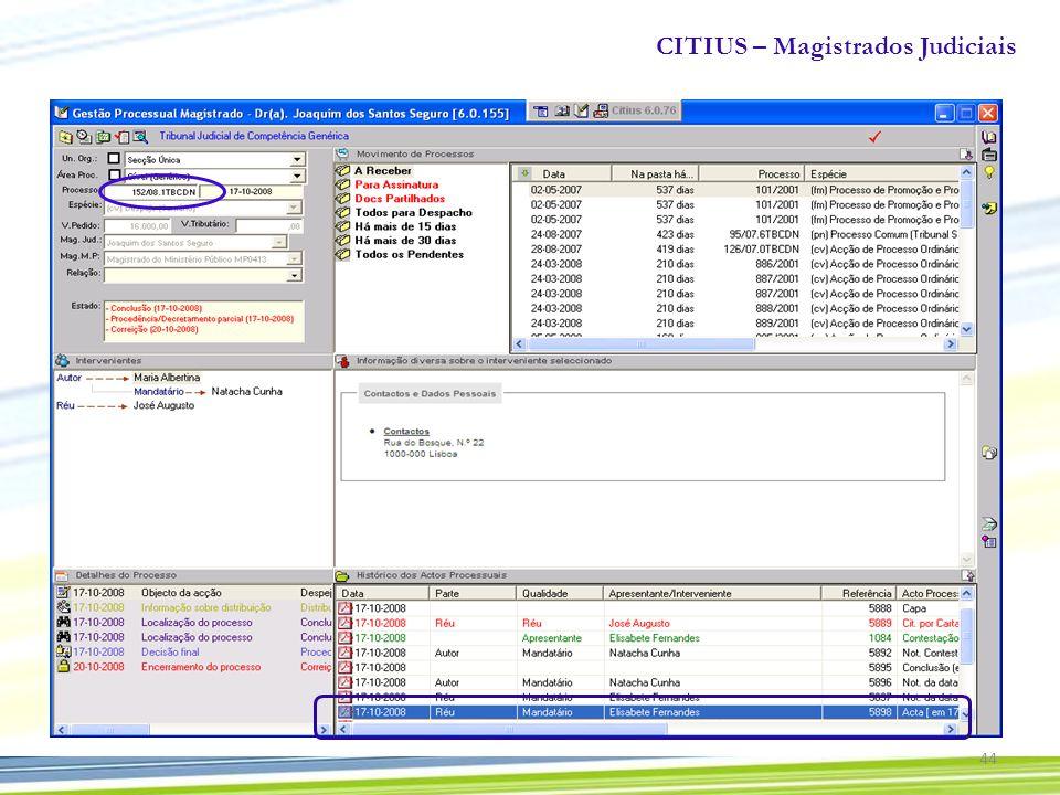 CITIUS – Magistrados Judiciais 44
