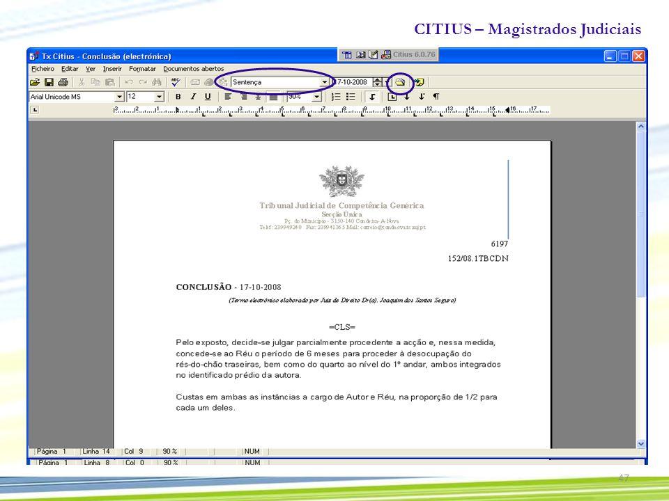 CITIUS – Magistrados Judiciais 47
